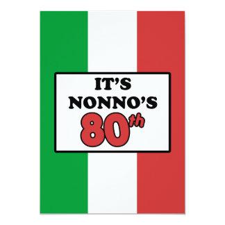 It's Nonno's 80th Birthday Italian Flag Invite