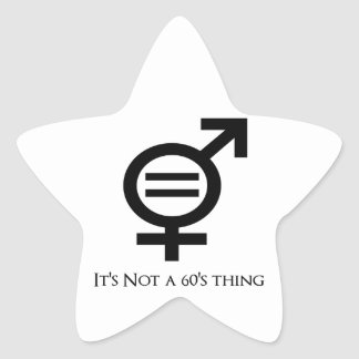 It's Not a 60s Thing Star Sticker