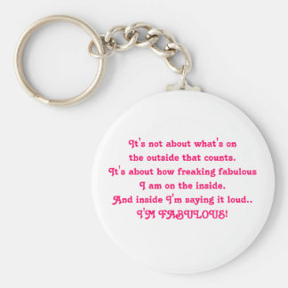 It's not about what's on the outside that count... keychain