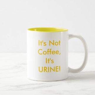 It's Not Coffee, It's URINE! Two-Tone Coffee Mug