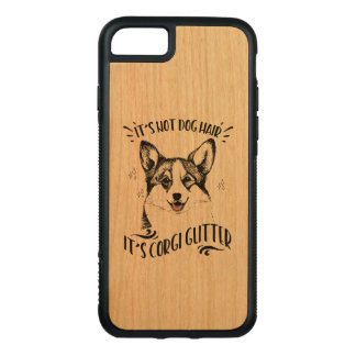 It's Not Dog Hair It's Corgi Glitter Carved iPhone 8/7 Case
