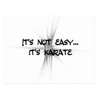 It's Not Easy - Karate Gray Postcard