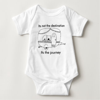 Its not the destination Its the journey Baby Bodysuit