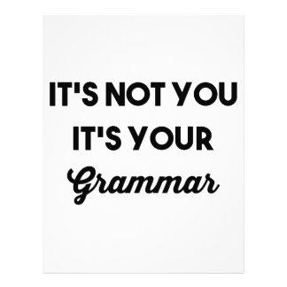 It's Not You It's Your Grammar Letterhead
