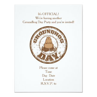 It's Official Groundhog Day Party Invitation