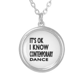 It's Ok I know Contemporary Dance Personalized Necklace