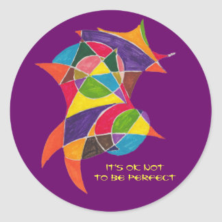 It's OK Not to Be Perfect Classic Round Sticker