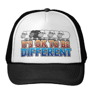 It's OK to be Different BLACK SHEEP Trucker Hat
