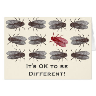 I'ts OK to be Different - Mutant Fruit Fly Card