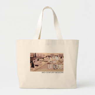 It's OK to be UNIQUE Jumbo Tote Bag - Retro Modern