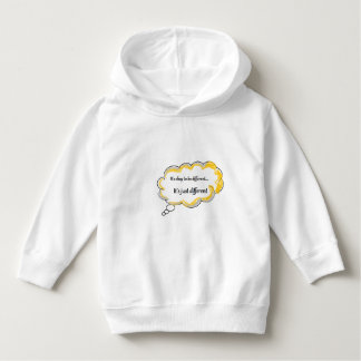 It's okay to be different and be a kid hoodie