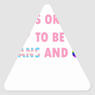 It's Okay To Be Trans And Gay (v1) Triangle Sticker