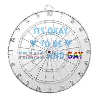 It's Okay To Be Trans And Gay (v2) Dartboard