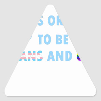 It's Okay To Be Trans And Gay (v2) Triangle Sticker