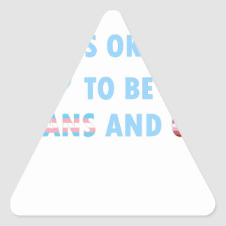 It's Okay To Be Trans And Gay (v3) Triangle Sticker