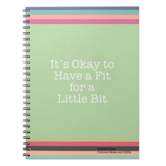 It's Okay to Have a Fit Notebook
