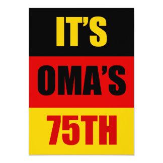 It's Oma's 75th Birthday German Flag Invite
