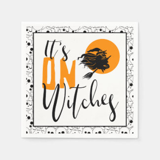 It's On Witches ID442 Disposable Napkin