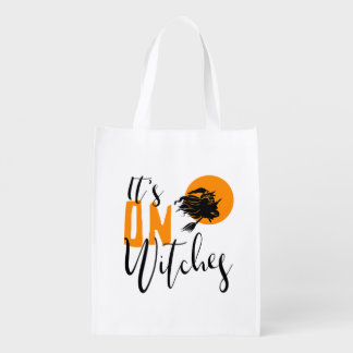 It's On Witches ID442 Reusable Grocery Bag
