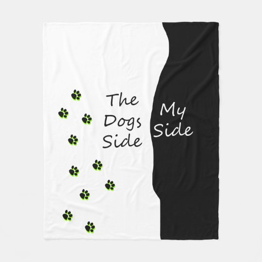 It's only a small dog fleece blanket