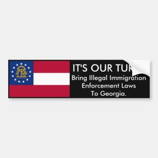 It's Our Turn, Georgia Bumper Sticker