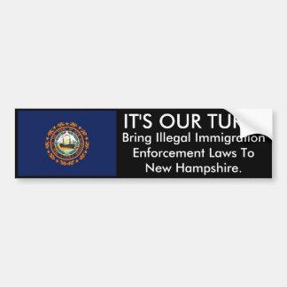 IT'S OUR TURN, New Hampshire Bumper Sticker