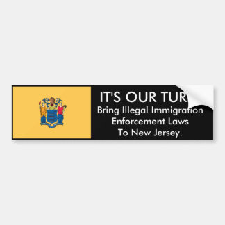 IT'S Our Turn, New Jersey. Bumper Sticker