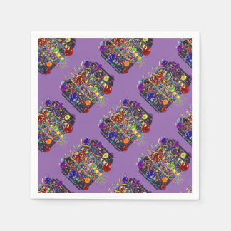 It''s Party Time!!!   in Purple Disposable Napkins