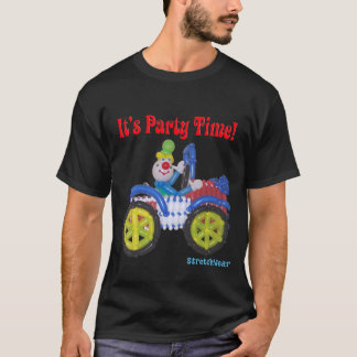 It's Party Time Shirt with Balloon Clown in Car