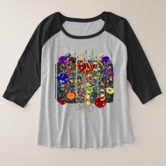 It's Party Time !  Women's Jersey Plus+ Plus Size Raglan T-Shirt