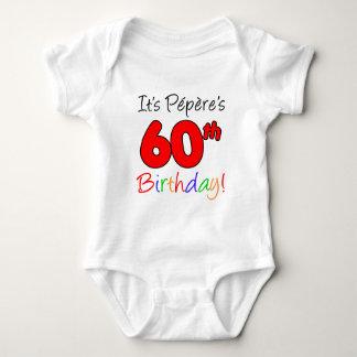 It's Pepere's 60th Birthday Baby Bodysuit
