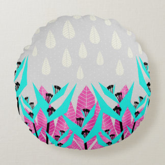 It's Raining Paradise Round Pillow