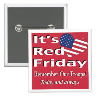 It's Red Friday 2 Inch Square Button