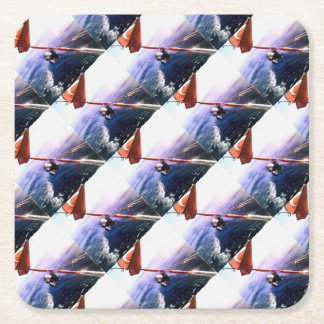 It's Reel - Gone Fishing Square Paper Coaster