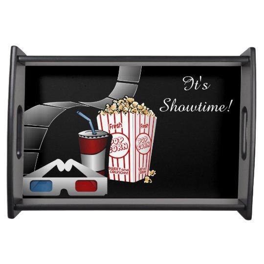 It's Showtime! Movie Film Strip & Popcorn Service Trays