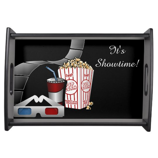 It's Showtime! Movie Film Strip & Popcorn Serving Tray