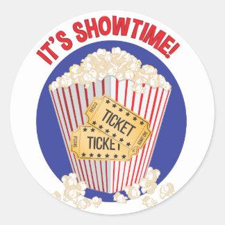 Its Showtime Round Sticker