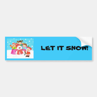kids christmas bumper stickers kids christmas car decal designs. Black Bedroom Furniture Sets. Home Design Ideas