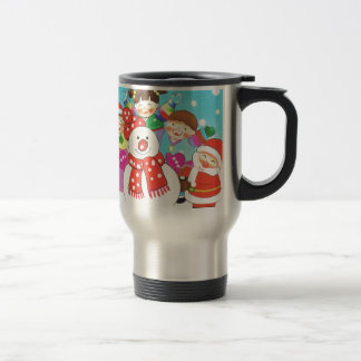 It's snow time! Merry Christmas, Kids in the snow Travel Mug
