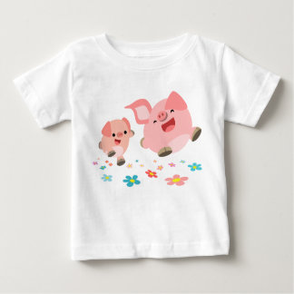 It's Spring!!-Two Cute Cartoon Pigs Infant T-Shirt