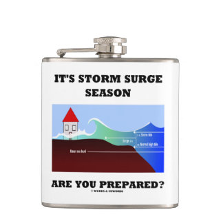 It's Storm Surge Season Are You Prepared? Hip Flask
