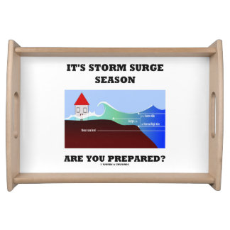 It's Storm Surge Season Are You Prepared? Serving Tray