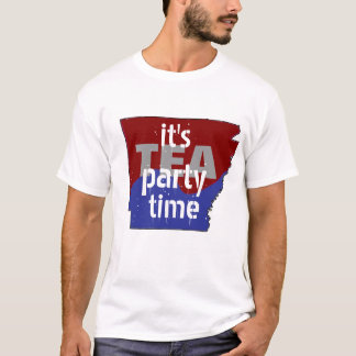 It's Tea Party Time Arkansas T-Shirt