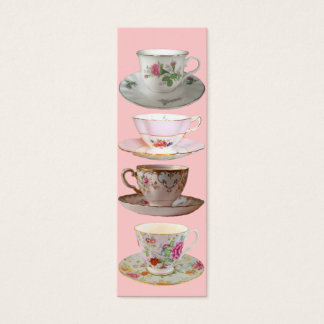 It's Tea Time Bookmarks Mini Business Card