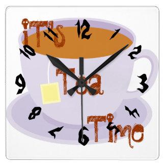 It's tea time clock