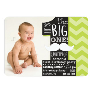 It's the BIG one! First Birthday Photo Invitation
