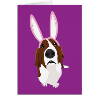 It's the Easter Basset Card