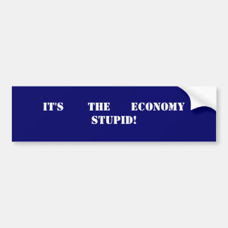 IT'S THE ECONOMY STUPID! Bumper Sticker