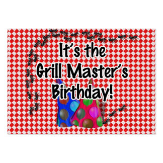 It's the Grill Master's Birthday Party! Large Business Card