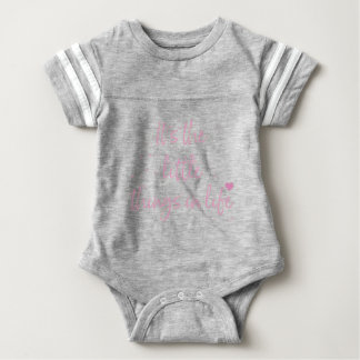 Its-the-little-Things-in-Life-quote-Pink Baby Bodysuit